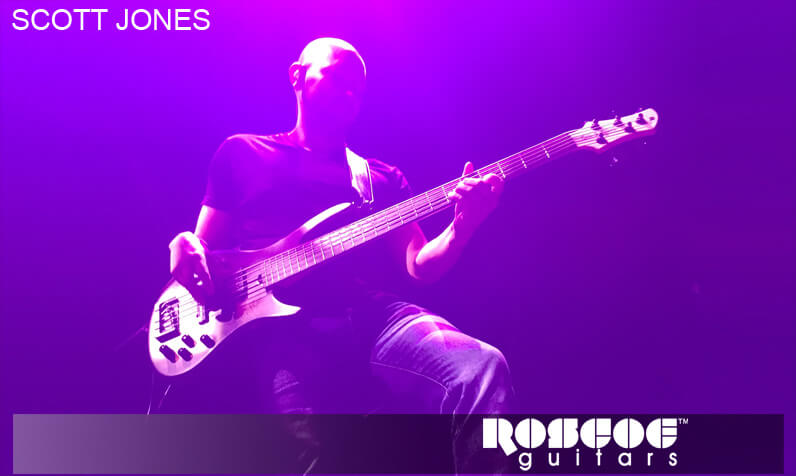 Roscoe guitars endorser Scott Jones